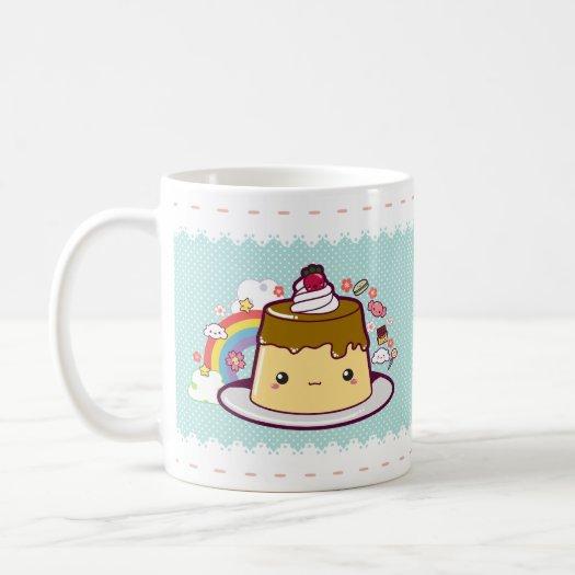Kawaii Flan mugs