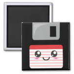 Kawaii Floppy Disk 2 Inch Square Magnet