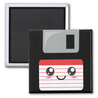 Kawaii Floppy Disk 2 Inch Square Magnet