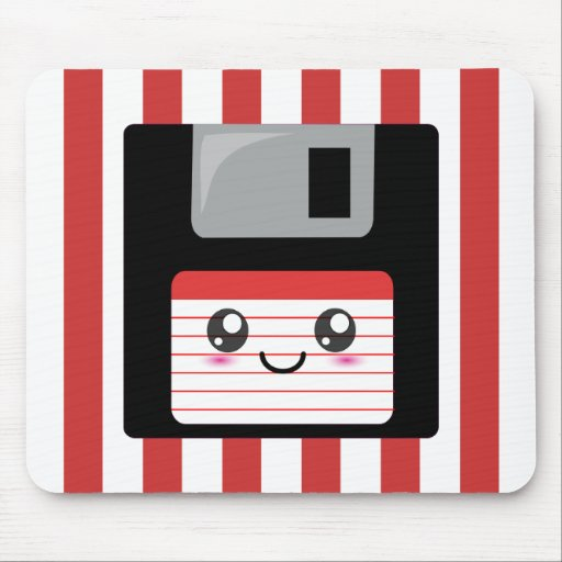 Kawaii Floppy Disk Mouse Pad