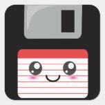 Kawaii Floppy Disk Square Sticker