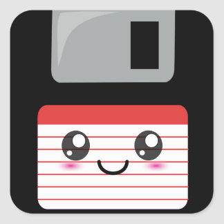 Kawaii Floppy Disk Sticker