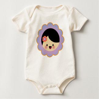 Kawaii flower girl baby bodysuit