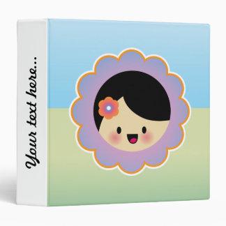 "Kawaii flower girl carpeta 1 1/2"""