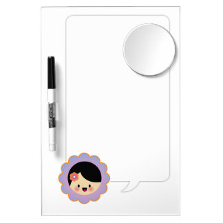 Kawaii flower girl Dry-Erase boards