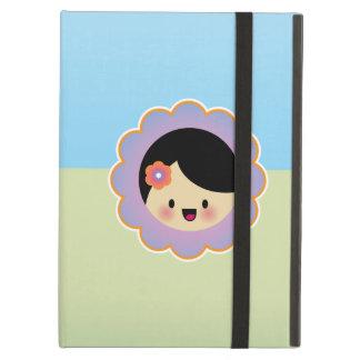 Kawaii flower girl iPad cases