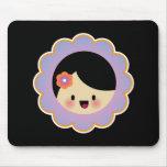 Kawaii flower girl mousepad