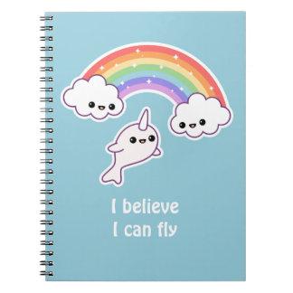 Kawaii Flying Narwhal Notebook