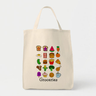 Kawaii Food Grocery Grocery Tote Bag