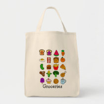 Kawaii Food Grocery Tote Bag