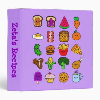 Kawaii Food Recipe Binder