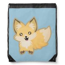 Kawaii Fox Drawstring Bag