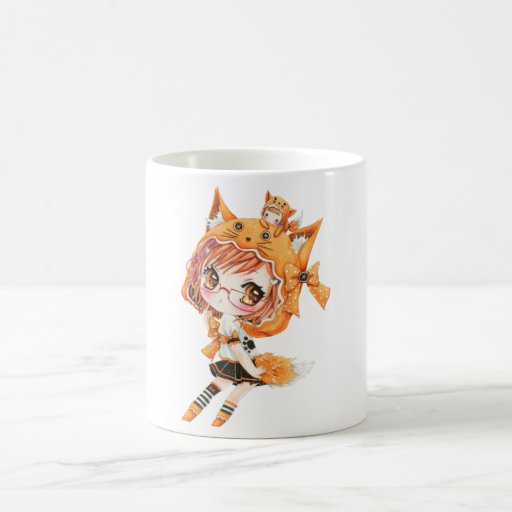 Kawaii fox girl coffee mug