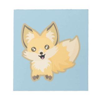 Kawaii Fox Notepad