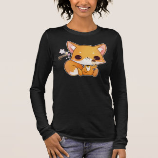 Kawaii fox with cute icecream long sleeve T-Shirt