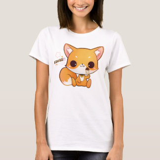 Kawaii fox with cute icecream T-Shirt