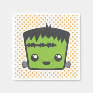 Kawaii Frankenstein Napkins Disposable Napkins