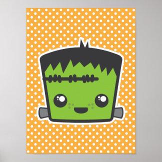 Kawaii Frankenstein Poster Print