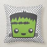 Kawaii Frankenstein Throw Pillow