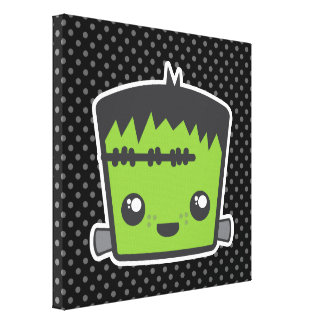 Kawaii Frankenstein Wrapped Canvas