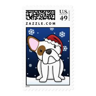 Kawaii French Bulldog Christmas Postage Stamps