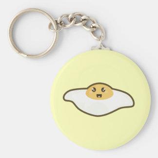 Kawaii Fried egg Basic Round Button Keychain
