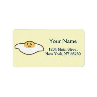 Kawaii Fried egg Label