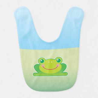 Kawaii frog baby bib