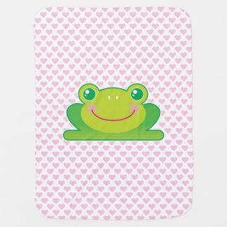 Kawaii frog baby blankets