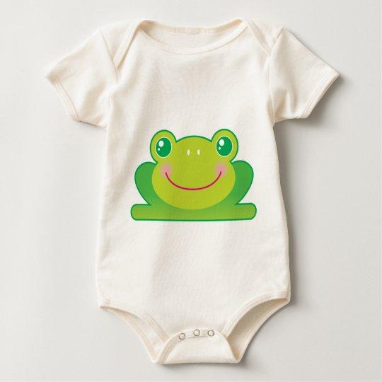 Kawaii frog baby bodysuit