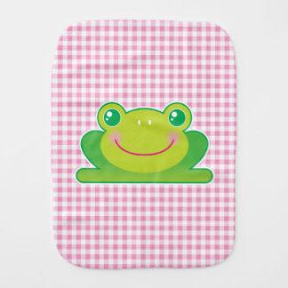 Kawaii frog baby burp cloth