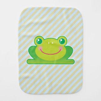 Kawaii frog baby burp cloths