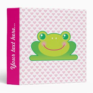 Kawaii frog binders