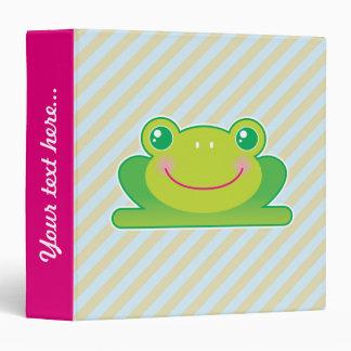 Kawaii frog 3 ring binder