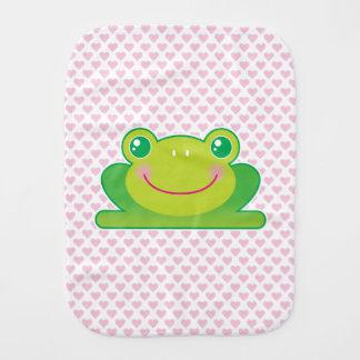 Kawaii frog burp cloths