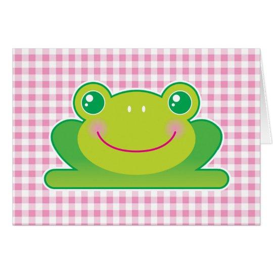 Kawaii frog card