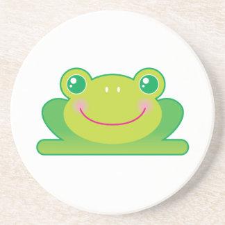 Kawaii frog drink coaster