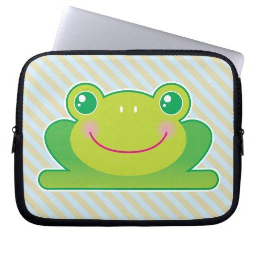 Kawaii frog computer sleeve
