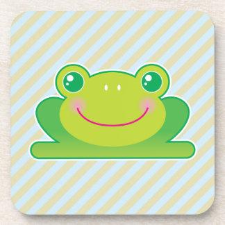 Kawaii frog drink coasters