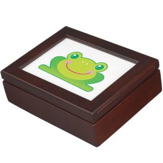 Kawaii frog keepsake box