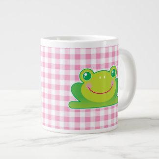 Kawaii frog large coffee mug