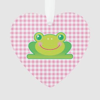 Kawaii frog ornament