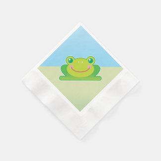 Kawaii frog paper napkin