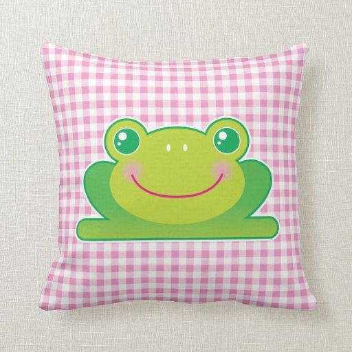 Kawaii frog pillows