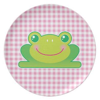 Kawaii frog plate