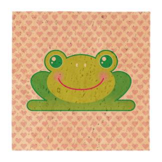 Kawaii frog beverage coaster