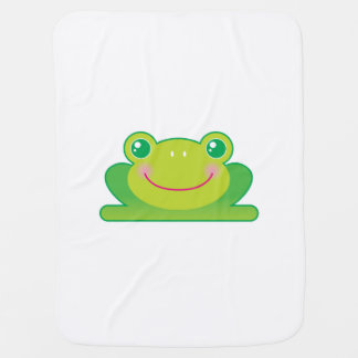 Kawaii frog receiving blankets