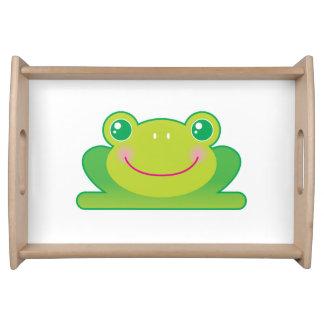 Kawaii frog serving tray