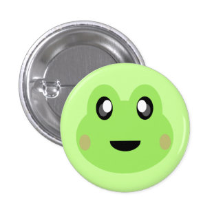 KAWAII FROG SUPER CUTE SWEETY 1 INCH ROUND BUTTON