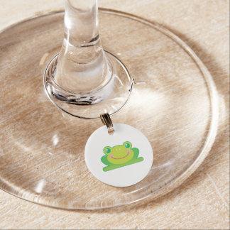 Kawaii frog wine charm
